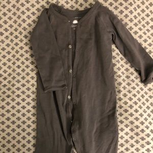 Primary Grey Snap Romper, 9-12 month
